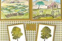 Stempelen - Countryside scene-it / Stempels van Hobby Art in Nederland verkrijgbaar bij Multihobby. Creëer je eigen landschap met deze stempelset