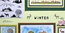 Stempelen - Winter / Stempels van Hobby Art in Nederland verkrijgbaar bij Multihobby. Creëer je eigen landschap met deze stempelset