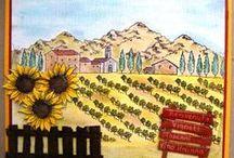 Stempelen - Tuscany / Stempels van Hobby Art in Nederland verkrijgbaar bij Multihobby. Creëer je eigen landschap met deze stempelset