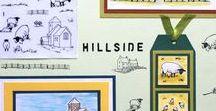 Stempelen - Hillside / Stempels van Hobby Art in Nederland verkrijgbaar bij Multihobby. Creëer je eigen landschap met deze stempelset