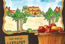 Stempelen - Autumn scene-it / Stempels van Hobby Art in Nederland verkrijgbaar bij Multihobby. Creëer je eigen landschap met deze stempelset