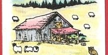 Stempelen - Old Barn / Stempels van Hobby Art in Nederland verkrijgbaar bij Multihobby. Creëer je eigen landschap met deze stempelset