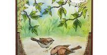 Stempelen - Bird Song / Stempels van Hobby Art in Nederland verkrijgbaar bij Multihobby. Creëer je eigen kaart met deze stempelset