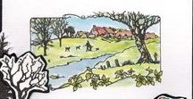 Stempelen - Country Walk / Stempels van Hobby Art in Nederland verkrijgbaar bij Multihobby. Creëer je eigen landschap met deze stempelset