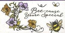 Stempelen - Busy Bees / Stempels van Hobby Art in Nederland verkrijgbaar bij Multihobby