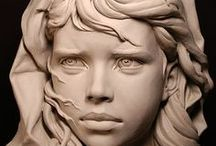 Art - Sculptures / Sculptures of all kinds, wood, stone, sand, ice, and snow / by Frosttie Flakes