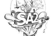 Sketches / Sketches e rascunhos da equipe da SA2 brincando com a criatividade.