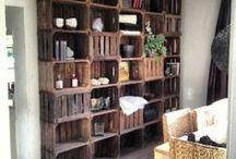 DIY PALETTE DE BOIS, CAISSES... / Idée déco  avec des vieilles palettes de bois