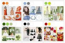 Wedding Colour Board Ideas / Some great colour scheme ideas for your wedding day