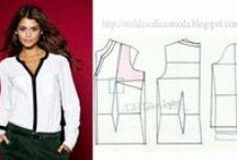 Modelagem de roupas / Modelagens e desenhos para uma breve noção de como fazer uma costura;