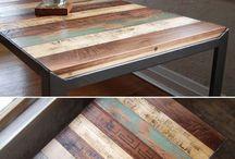 DIY参考(机椅子テーブルベンチ)