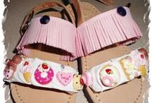 baby girl sandals / handmade baby girls sandals decoration