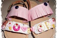 baby girl sandals / handmade baby girls sandals decoration