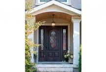 Entry Doors / Your entry door need not be boring! Check out our wide selection and variety  / by Centra Windows Inc.
