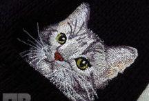 Вышивка на вязаных изделиях / Машинная вышивка на вязаном #embroidery #knitting