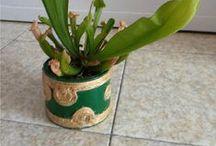 Vasi / Vasetti riciclosi per mettere le piante o da usare come portaoggetti, porta-lumini.....e cos'altro mi verrà in mente