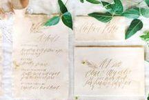 wedding invitations / Wedding invitation inspiration and beautiful calligraphy.