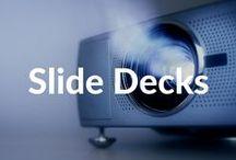 Slide Decks / Check out our awesome slide decks over on #SlideShare: http://www.slideshare.net/xoombi