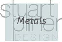 Metals / Stuart Pliner Design inspiration for metals used in interior design