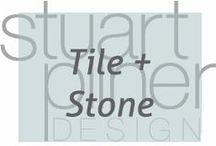 Tile and Stone / Stuart Pliner Design inspiration for tile and stone for interior design and home decor