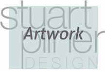 Artwork / Stuart Pliner Design inspirations for abstract art for use in interior design and home decor