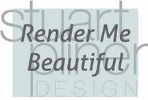 Render Me Beautiful / Stuart Pliner Design inspirational hand and computer renderings