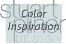 Color me Unconscious / Stuart Pliner Design's inspirational board of color of interior design and home decor