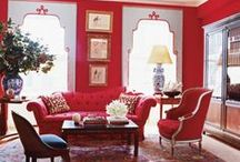 Righteous Red Fabrics / This board features a sample selection of fabrics in the red color family or with red accents.  Use these fabrics to help create a statement in your home, without paying designer or retail prices.  As always, we offer totally free samples on all our fabrics.