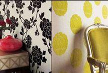 Fabric on Walls - DIY