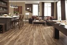 LVT flooring = less worry / With luxury vinyl planks, you can get the look of wood anywhere in your home; in the lower level, kitchen, even the bathroom!  It's 100% moisture resistant.  Vinyl Tiles can be grouted, which equals luxury looking floors, but warmth underfoot.