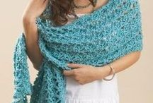 crocheted wraps and shawls
