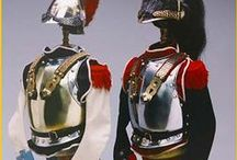 Uniforms - Hussar's, Grenadiers, and Musketeers. by M de L /  Military uniforms the splendour and  prestige. By M de L  / by Madame De Loup