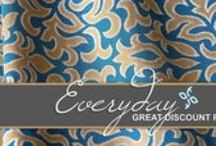 Designer Upholstery Fabrics On Sale / Waverly, Duralee, Robert Allen, and Swavelle Fabrics at 25% off our already low everyday price of 75% off MSRP!  Free Swatches (no cost, no shipping) everyday!   Free shipping on all orders over $100