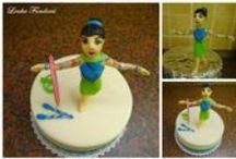 Dort s gymnastkou (cake with gymnast)