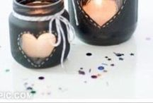 DIY Candle Holders / DIY candles are perfect for gift or for home decor. Get crafty and try making some of these lovely candle holders.  #candle #candleholder #diy