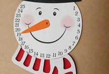 Noël: bricolage, calendriers de l'avent & cadeaux. / Des bricolages, des idées pour les cartes de voeux, un listing d'achat eventuels.