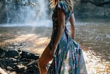 → BOHO SUMMER / This is my summer inspiration, I want the most chill boho summer ever, with my long hair and maxi dresses, floral patterns and colorful prints!