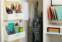 Utility Closet Organization / Connect with us... www.psorganizing.com  www.facebook.com/practicalsolutions www.Twitter.com/psorganizing