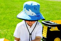 Children's Hat - The Shark Bite / We support shark conservation. Have a look at these great shark pins we found to. Our shark-bite hat for kids is UPF 50+ CANSA approved.