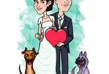 Illustrazioni per Matrimoni e Anniversari / Idee per matrimoni e anniversari. Caricature e illustrazioni personalizzate per i vostri inviti di nozze, il tableau de marriage, le bomboniere e tutta la wedding suite.