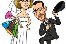 Wedding Illustrations and Caricatures / Illustrations and Caricatures for wedding invitations, tableau de marriage. A good idea for your wedding day.  www.papirolandia.it/contattami/ #justmarried #wedding