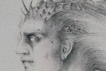 Plancton, 2004 / Alessandro De Michele, Plancton, 2004 Pencil drawing on paper, 50 x 30 cm