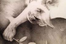 Asce di guerra, 2014 / Alessandro De Michedle, War hatchets, 2014 Pencil drawing on paper, 85 x 65 cm