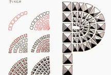 Zentangle starters / eenvoudige patronen