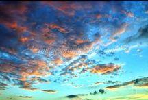 Sunset, Sunrise, Sky, Moon