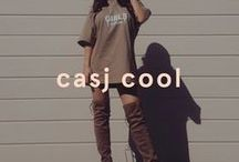 Casj Cool / The vibe is cool and casual, and we've got the low down. Kick back in this season's casj cool edit; think neutral colours, oversized hoodies and nude bodycon dresses. The ultimate Kardashian look.