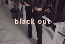 Black Out / We all know that black is timeless. Keep things sleek in an all-black outfit and shop the classic trend.