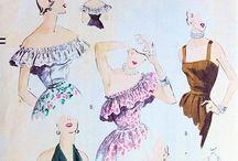vintage sewing patterns.