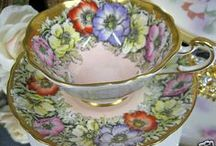 Tea Cups & Porcelain Beauty / All about gorgeous tea cups and porcelain beauties. My Grandmother used to have a whole china cabinet full of unique and special tea cups and when I was little she would have a cup of tea with me.