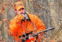 Men's Hunting Apparel / What men can wear when out in the field. Blaze orange, camo, jackets, pants, and more!